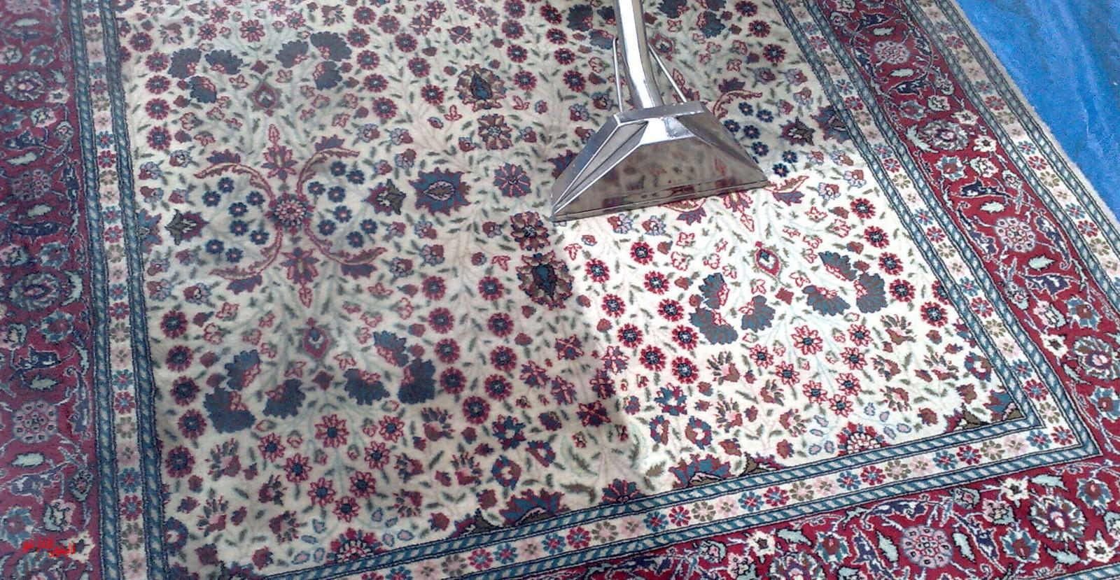 تاثیر شستشوی فرش در محل